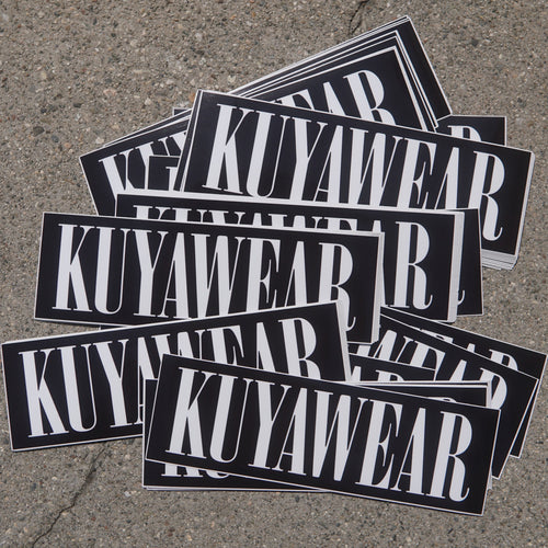 Kuyawear Logo Sticker (Black)