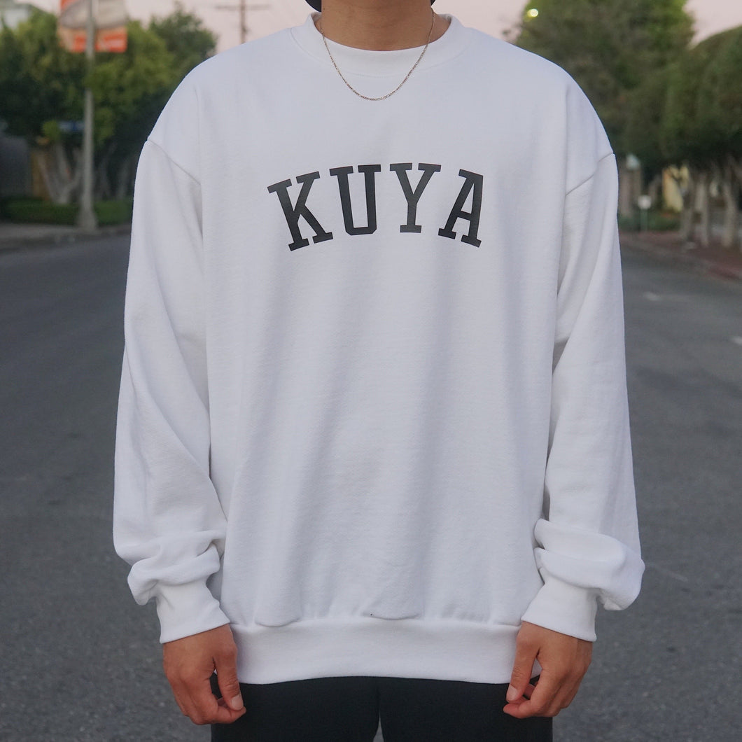 Kuya Crewneck Sweater (White)