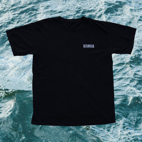 Kuyawear Oversized Logo T-Shirt (Black)