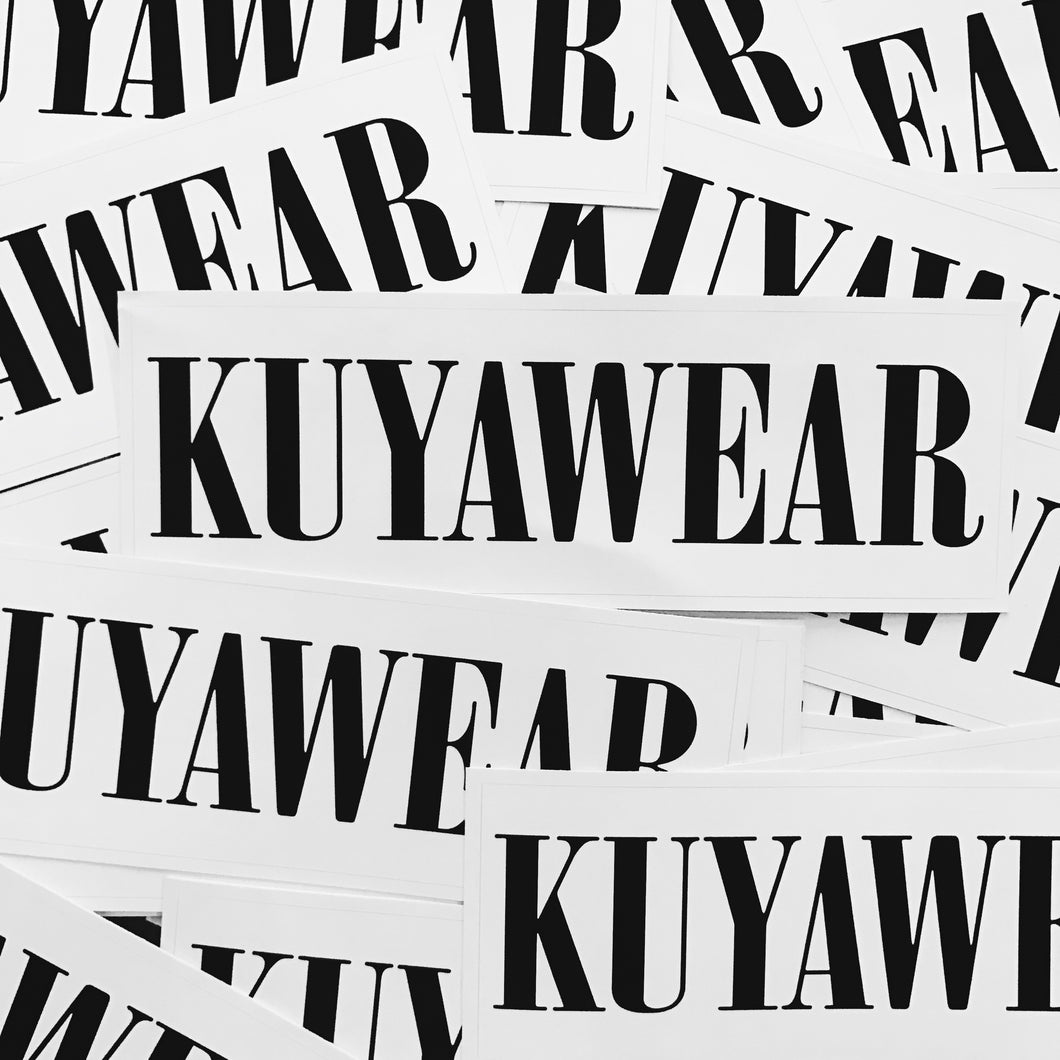 Kuyawear Logo Sticker (White)