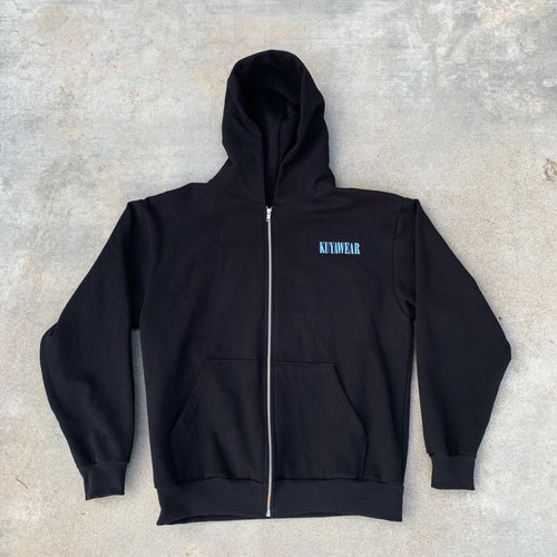Blueprint Zip Up Hoodie (Black)