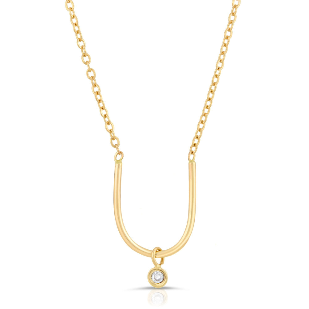 handmade diamond 14k necklace