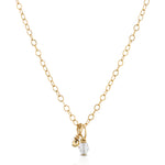 SWAROVSKI CRYSTAL AND 14K GOLD BEAD NECKLACE