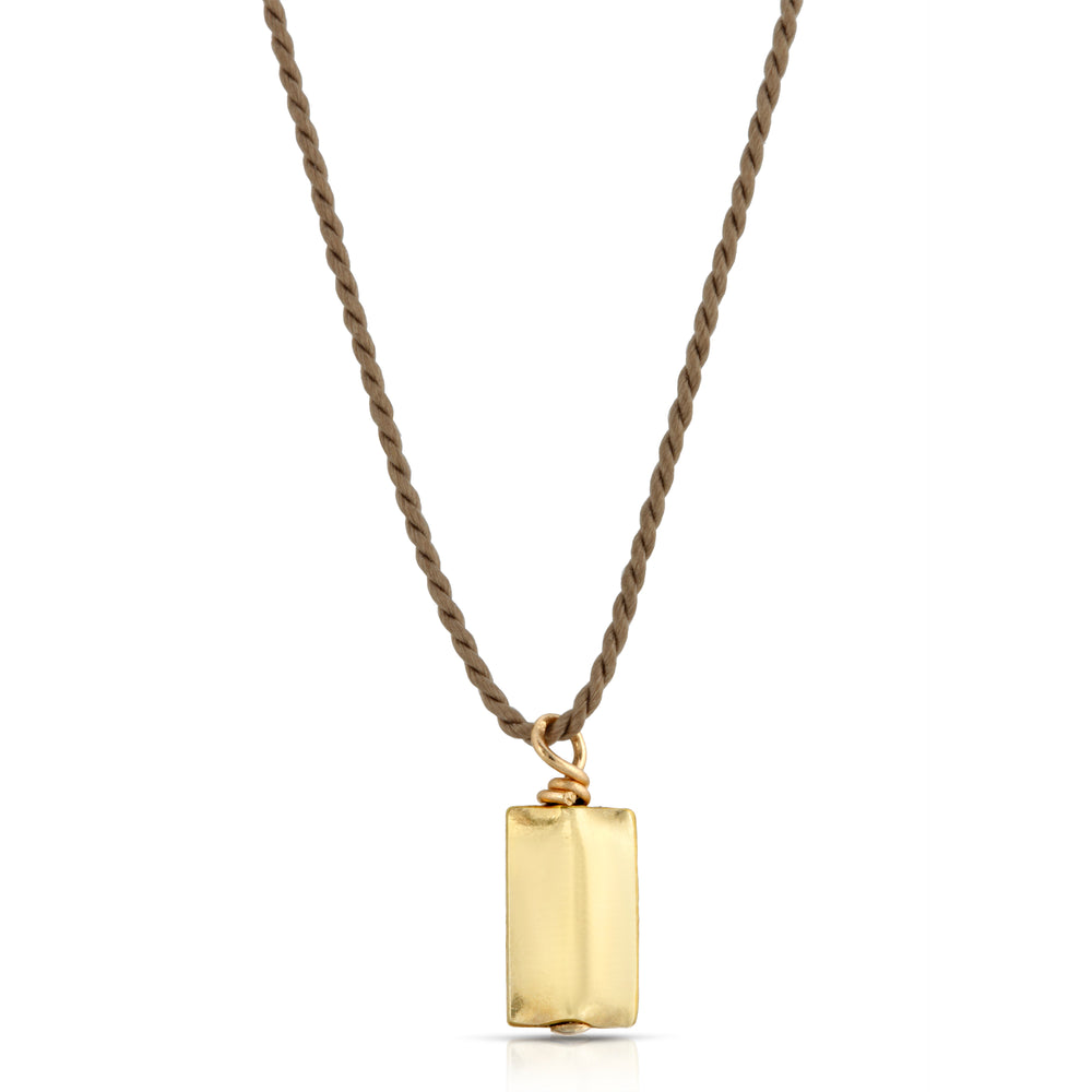 18K GOLD RECTANGLE PENDANT