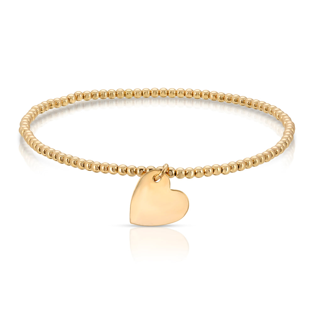 BALL AND HEART CHARM BRACELET