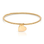 danielle-moosbrugger,BALL AND HEART CHARM BRACELET,