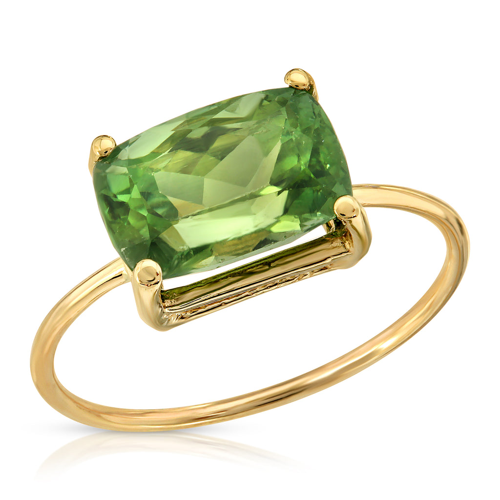 Sage Green Tourmaline Ring