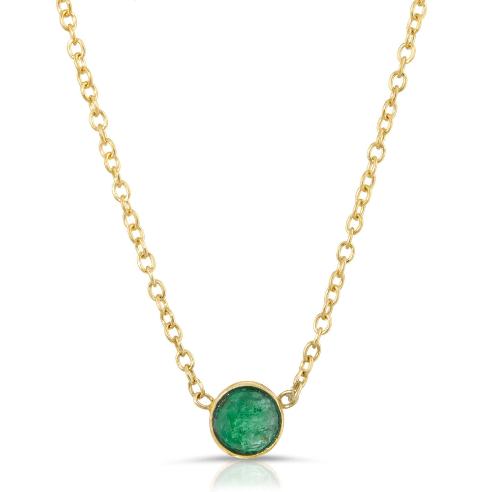 danielle-moosbrugger,EMERALD SOLITAIRE NECKLACE,Necklaces