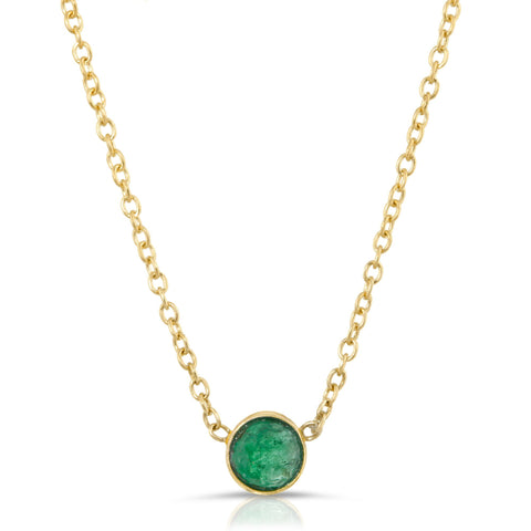 Emerald Solitaire Necklace