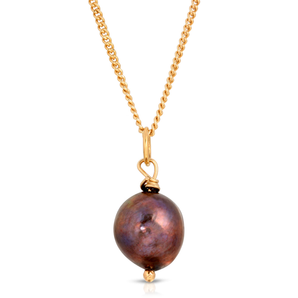 danielle-moosbrugger,PURPLE FRESHWATER PEARL DROP NECKLACE,Necklaces