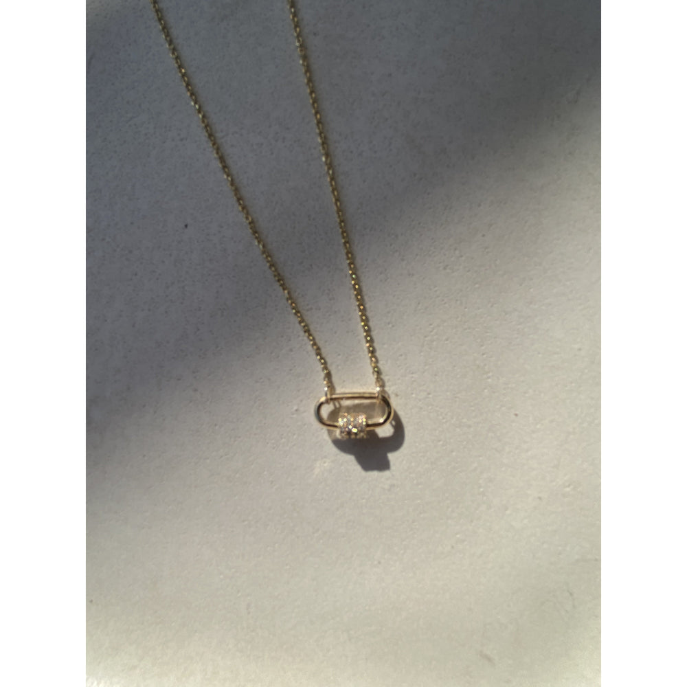 DIAMOND PAPERCLIP NECKLACE