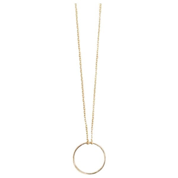 danielle-moosbrugger,TEXTURED CIRCLE SOLITAIRE NECKLACE,Necklaces