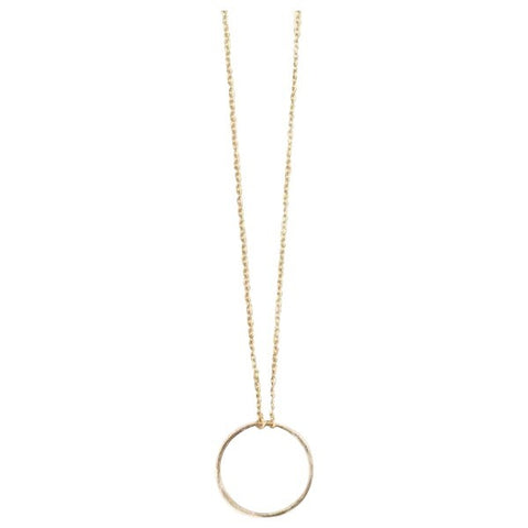 Open Circle 14k Gold Necklace