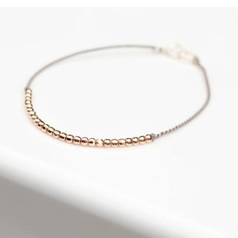 14K Rose Gold Crown Bracelet