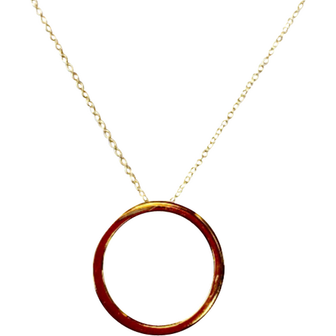 14k Gold Eternity Circle Necklace