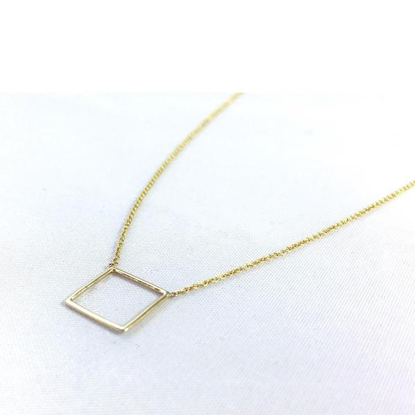 gold necklace bar name engravable square