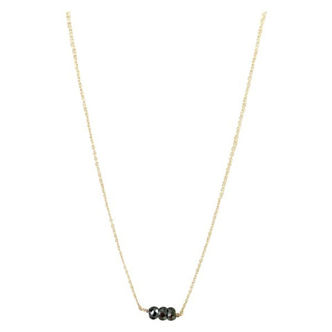 Black Diamond Facet Necklace
