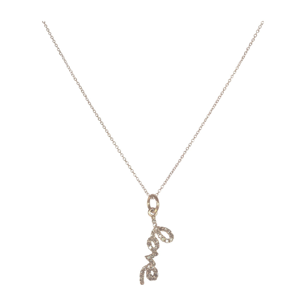 Diamond 14k Rose Gold Love Charm Necklace