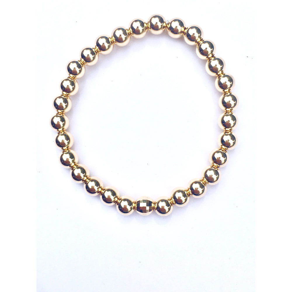 danielle-moosbrugger,STRETCHY BALL BRACELET MIXED METAL,bracelets