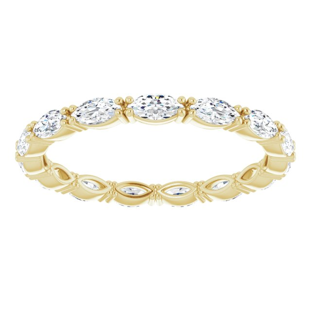 DIAMOND MARQUISE 14K YELLOW ETERNITY BAND