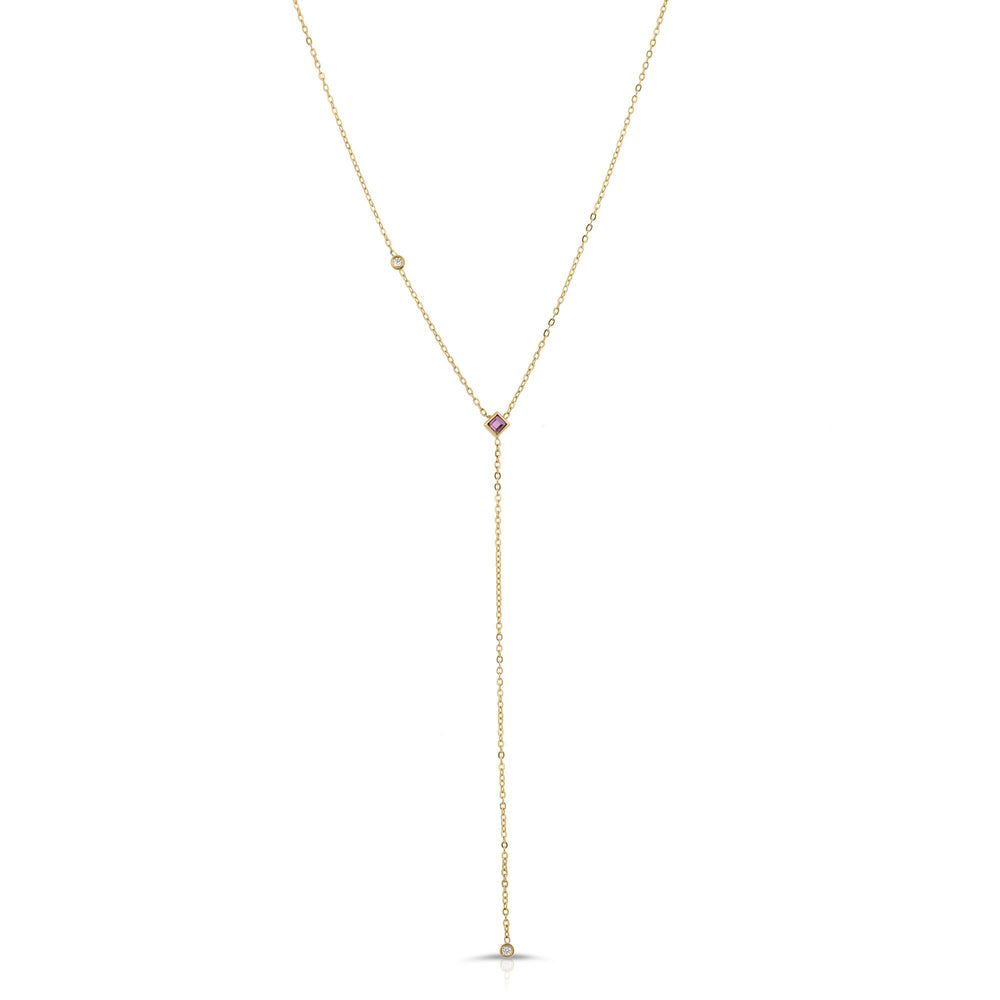 danielle-moosbrugger,RUBY AND DIAMOND LARIAT,Necklaces