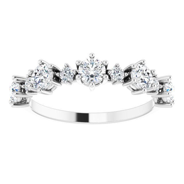 STAGGERING DIAMOND BRIDAL BAND