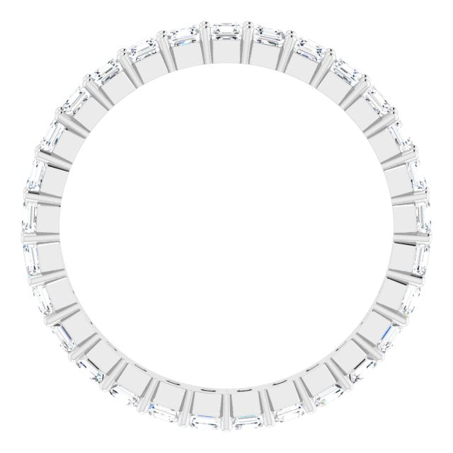ASSCHER DIAMOND CUT 14K WHITE ETERNITY BAND