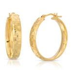 danielle-moosbrugger,TEXTURED CHUNKY 14K HOOPS,earrings