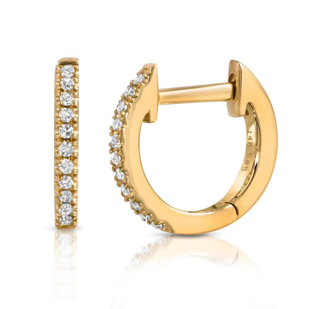 danielle-moosbrugger,DIAMOND HUGGIE HOOPS,earrings