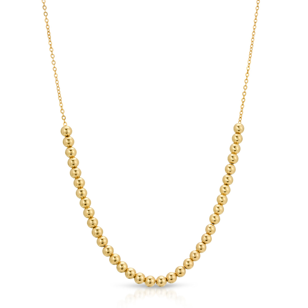 14K BALL NECKLACE