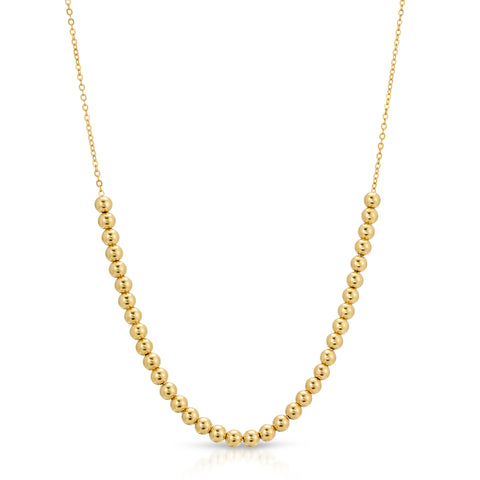 14k Bead Necklace