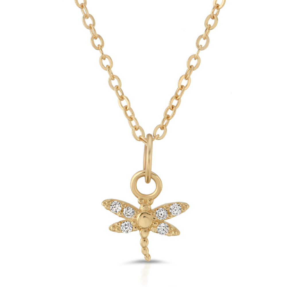 danielle-moosbrugger,DIAMOND DRAGONFLY NECKLACE,