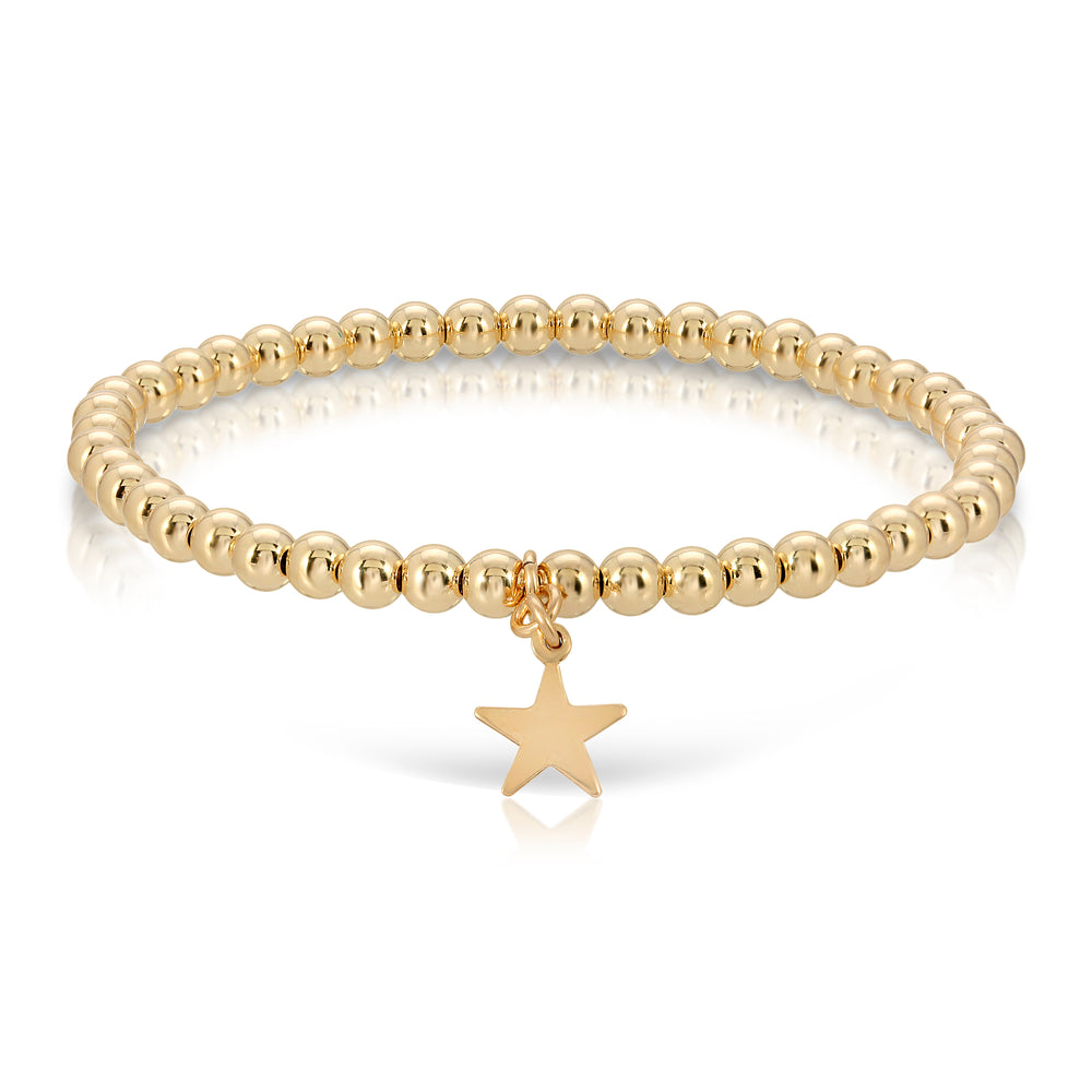 GOLD BEAD STAR BRACELET