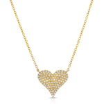 DIAMOND ENCRUSTED HEART NECKLACE