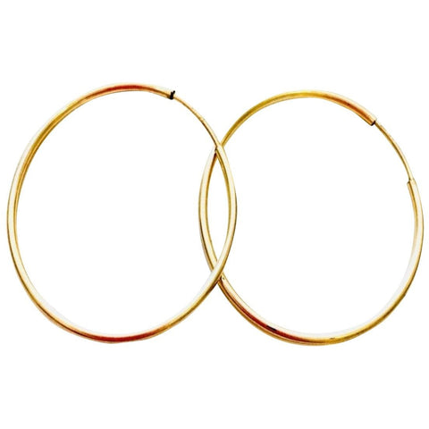 14k Gold Everyday Hoops