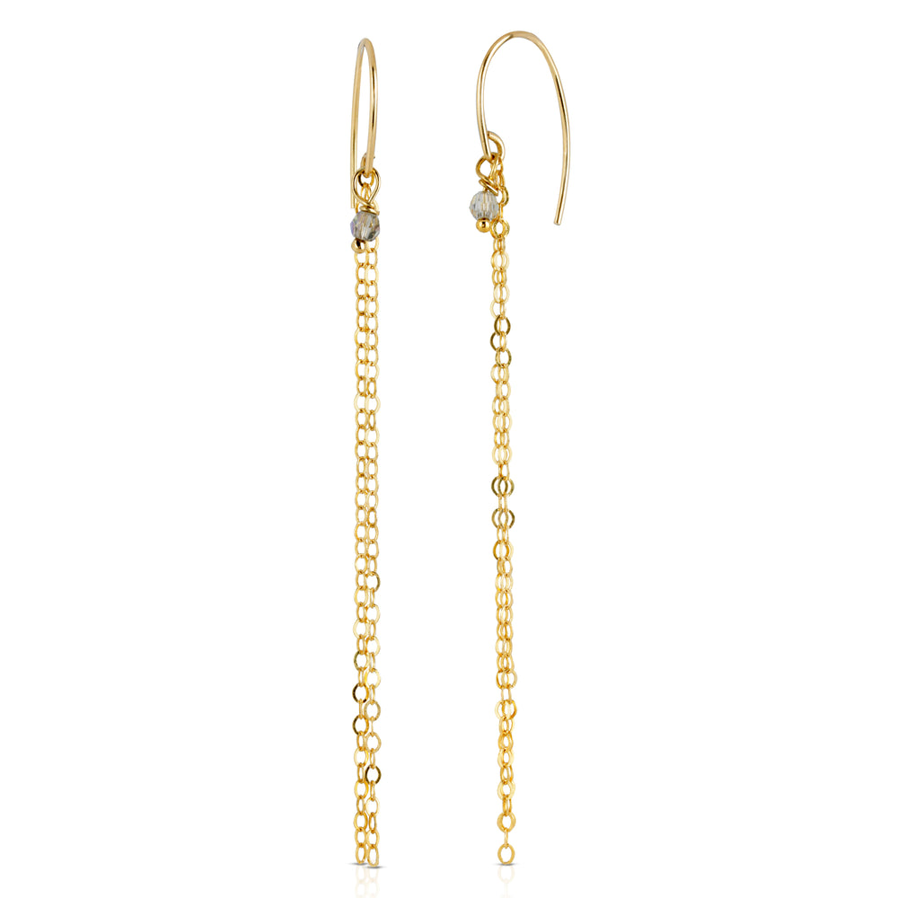 danielle-moosbrugger,GOLDEN STRANDS CRYSTAL EARRINGS,earrings