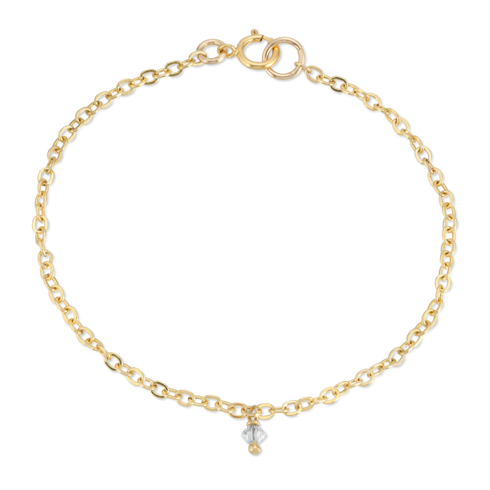 SIMPLE SPARKLE ANKLET