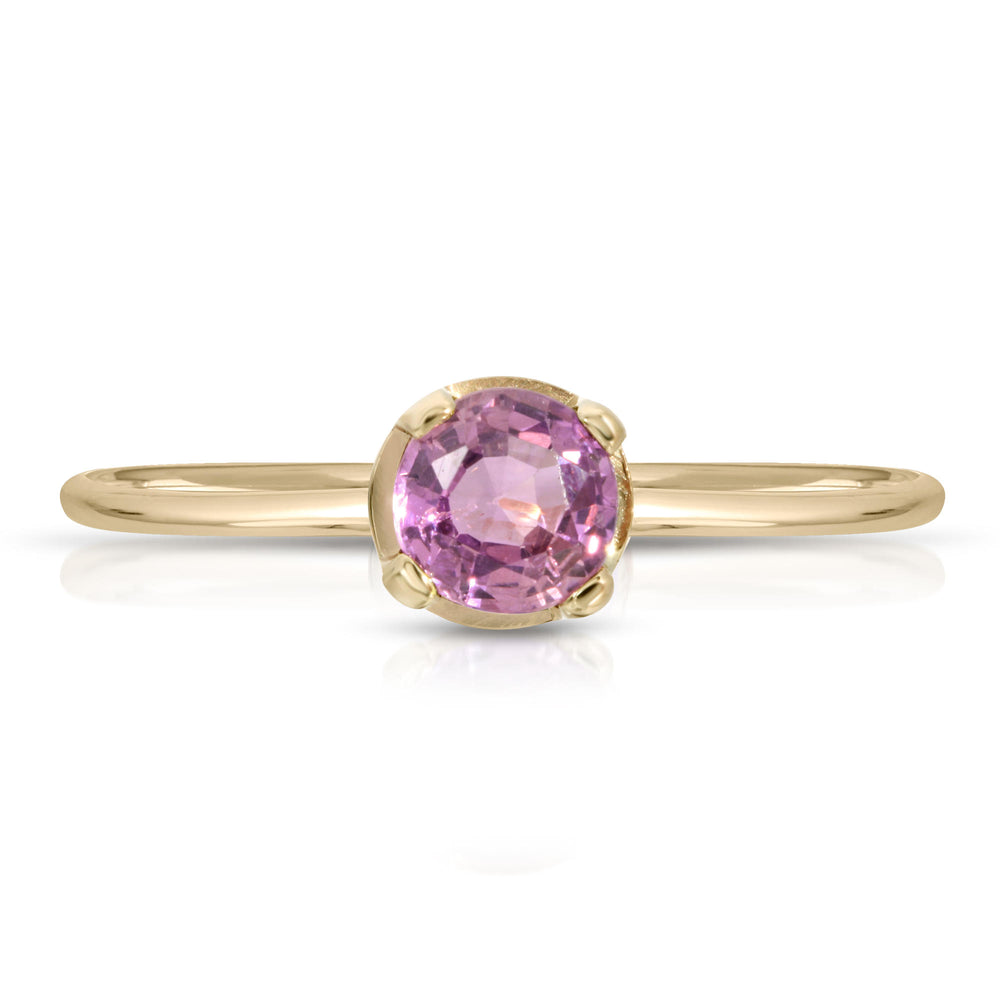 PINK SAPPHIRE 14K GOLD RING