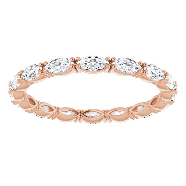 DIAMOND MARQUISE 14K ROSE GOLD ETERNITY BAND