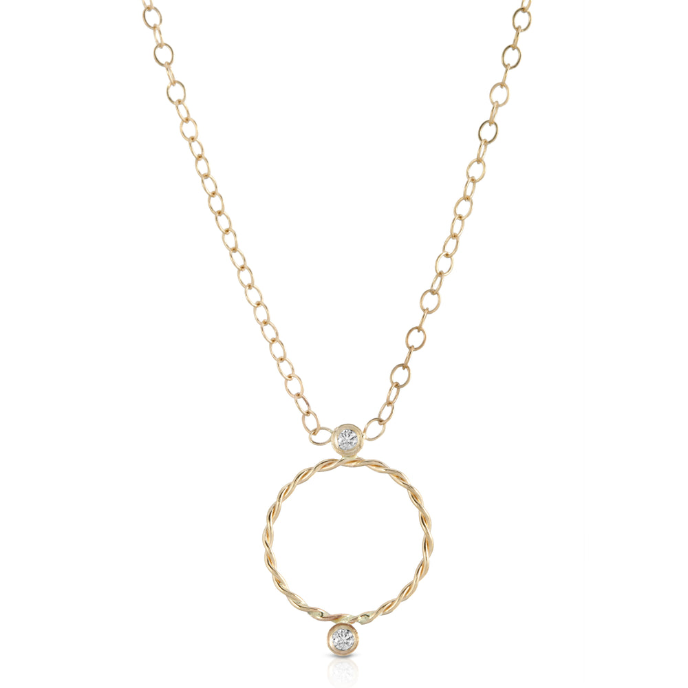 danielle-moosbrugger,DIAMOND TWILL NECKLACE,Necklaces