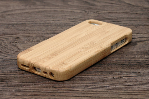 Personalized Logo Bamboo Wood Iphone Case for Iphone 5 or Iphone SE, Add Your Logo