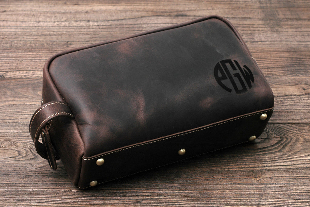 Personalized Leather Toiletry Bag a64edb46ac19c
