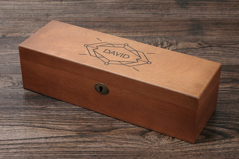 Personalized Men's Watch Box, Custom Wood Watch Box, Diamond