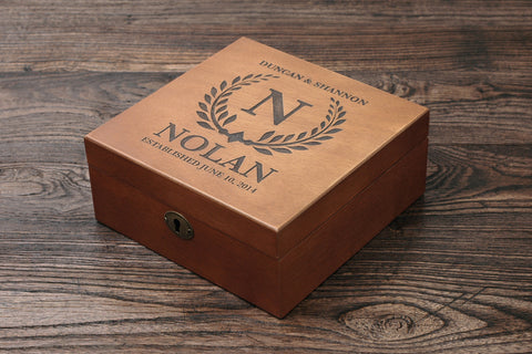 Personalized Men's Watch Box, Custom Wood Watch Box, EST