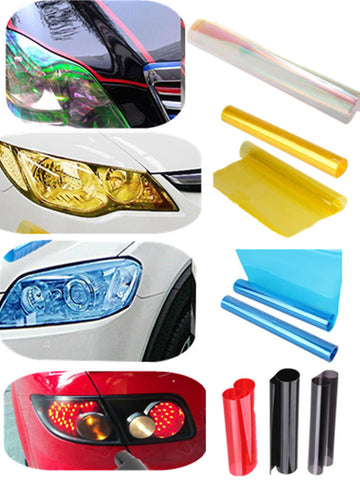 30cm x 60/120/180cm7-Color Auto Car Tint Headlight - Vinyl Film Sheet-RPM Mods