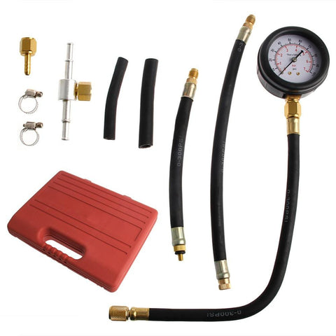 Car Fuel Injection Pump Tester Injector Pressure Test Diagnostic Gauge Kit-RPM Mods