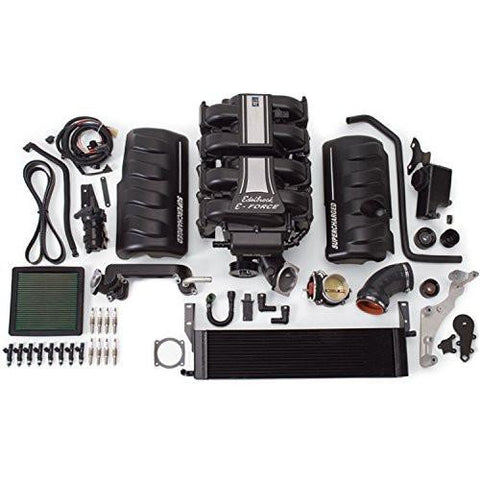 Edelbrock 15800 E-Force Street Legal Supercharger Kit Incl. Supercharger/Air Inlet/Injectors/Intercooler/Plugs-RPM Mods