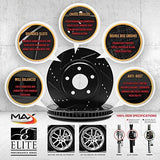 Max KT009583 [ELITE SERIES] Front + Rear Performance Slotted & Cross Drilled Rotors and Ceramic Pads-RPM Mods