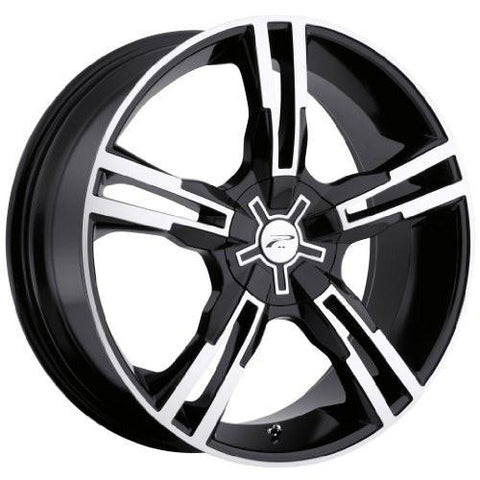 Platinum 292B Saber FWD Gloss BlackDiamond Cut And Clear Coat Wheel (17x7.5/5x4.50, 42mm Offset)-RPM Mods