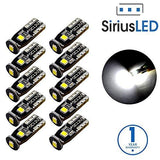 SiriusLED Extremely Bright 3030 Chipset LED Bulbs - Pack of 10-RPM Mods